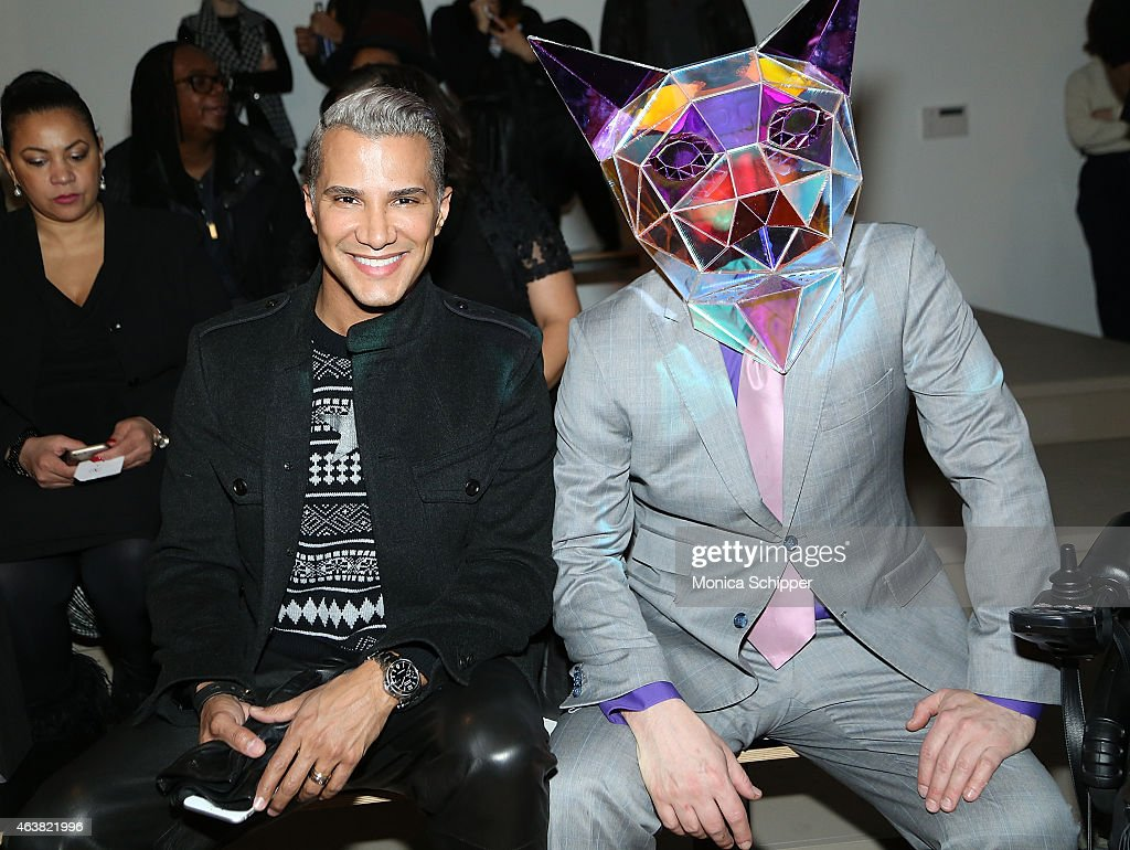 Jay Manuel (L) and Max Steiner attend The Blonds fashion show during MADE Fashion Week Fall 2015 at Milk Studios on February 18, 2015 in New York City.