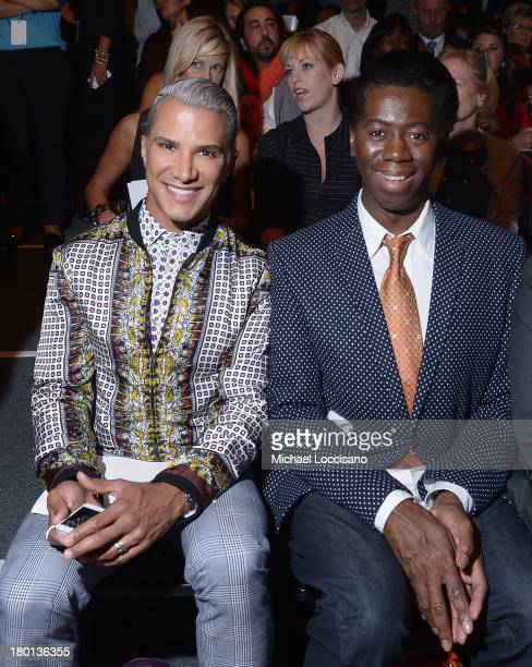 Jay Manuel and Miss J Alexander attend the Pamella Roland fashion show during MercedesBenz Fashion Week Spring 2014 at The Studio at Lincoln Center...