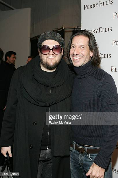 Jay McCarroll And John Crocco Attend Perry Ellis Fall 2007 Collection At The Promenade On February