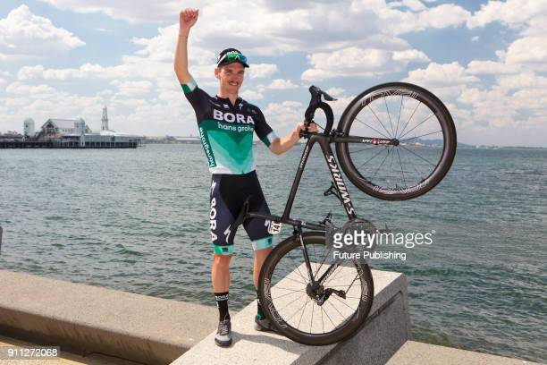 Jay McCarthy after winning the 2018 Cadel Evans Road Race on January 28 2018 in Geelong Australia Chris Putnam / Barcroft Images LondonT44 207 033...