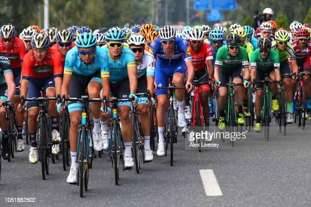 Jay Mccarthy of Australia and Team Bora-Hansgrohe / Heinrich Haussler of Australia and Team Bahrain - Merida / Tsgabu Grmay of Ethiopia and Team...