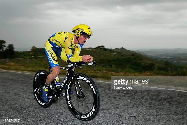 Jay McCarthy of Australia and team TinkoffSaxo in action during the twelfth stage of the 2014 Giro d'Italia a 42km Individual Time Trial stage...