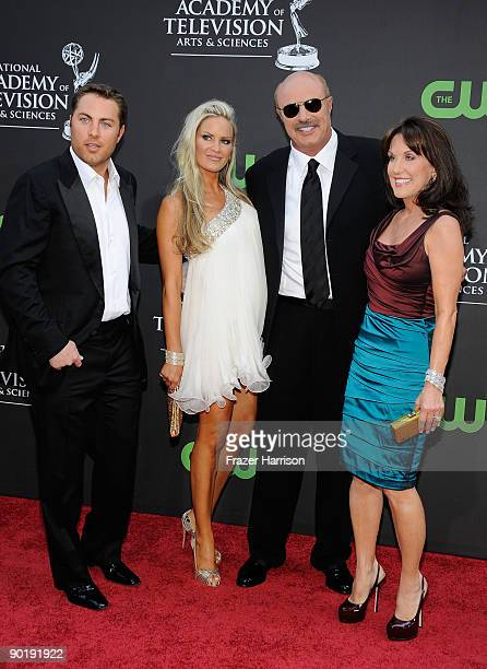 Jay McGraw actress Erica Dahm TV personality Phil McGraw and Robin McGraw attend the 36th Annual Daytime Emmy Awards at The Orpheum Theatre on August...
