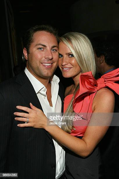 Jay McGraw and Erica Dahm attend the Margo Reymundo of Organica Records CD debut party at Vibrato Grill Jazz on May 27 2009 in Beverly Hills...