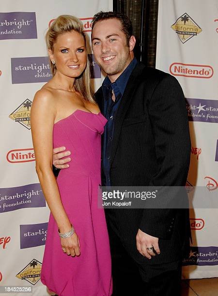 Jay McGraw and Erica Dahm during 2007 Starlight Starbright Children's Foundation Gala Arrivals at The Beverly Hilton in Beverly Hills California...