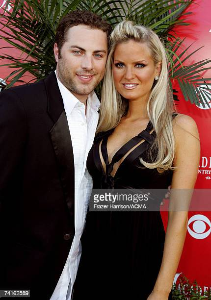 Jay McGraw and wife Erica Dahm arrive at the 42nd Annual Academy Of Country Music Awards held at the MGM Grand Garden Arena on May 15 2007 in Las...