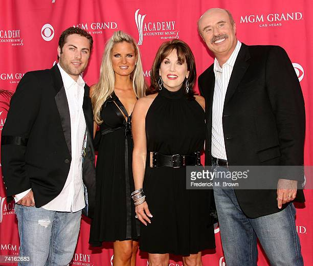 Jay McGraw wife Erica Dahm Robin McGraw and television personality Dr Phil McGraw arrive at the 42nd Annual Academy Of Country Music Awards held at...
