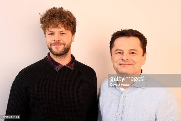 Jay McGuiness and Chris Hollins show support for BBC Children in Need at Elstree Studios on November 17 2017 in Borehamwood England