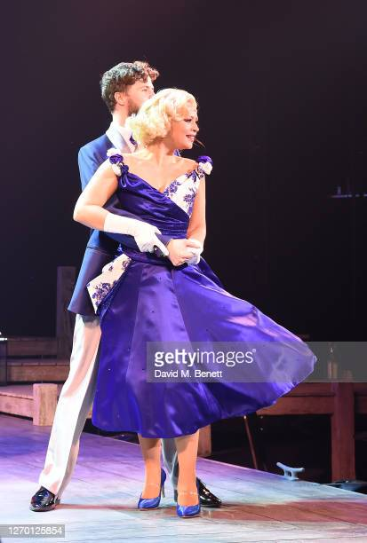 """Jay McGuiness and Kimberley Walsh attend the press night performance of """"Sleepless: The Musical"""" at the Troubadour Wembley Park Theatre on September..."""