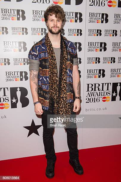 ONLY] Jay McGuiness attends the nominations launch for The Brit Awards 2016 at ITV Studios on January 14 2016 in London England