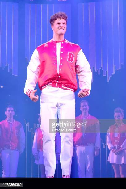 Jay McGuiness bows at the curtain call during the press night performance of Big The Musical at The Dominion Theatre on September 17 2019 in London...