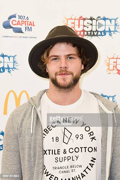 Jay McGuiness poses backstage at Fusion Festival at Otterspool Parade on September 3 2016 in Liverpool England