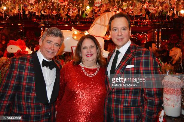 Jay McInerney Alison Mazzola and George Farias attend George Farias Anne Jay McInerney Host A Holiday Party at The Doubles Club on December 13 2018...