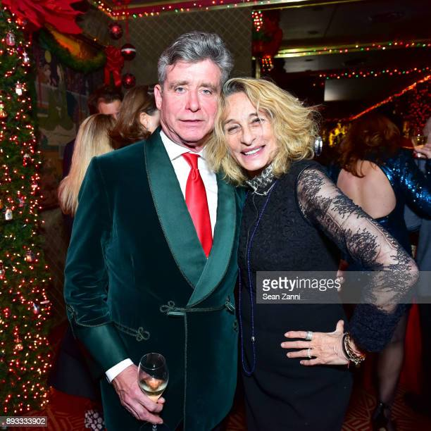Jay McInerney and Ann DexterJones attend A Christmas Cheer Holiday Party 2017 Hosted by George Farias and Anne and Jay McInerney at The Doubles Club...