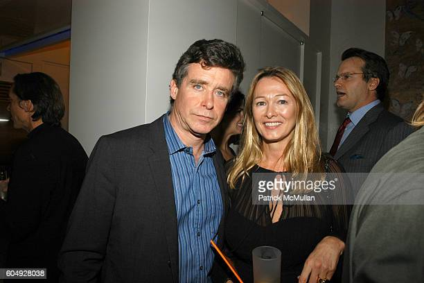 Jay McInerney and Kimberly duRoss attend A Cocktail Party Celebrating the Engagement of Jay McInerney and Anne Hearst at Tatiana and Campion Platt's...