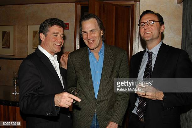 Jay McInerney Dirk Wittenborn and John Lambros attend Jay McInerney celebrates The Good Life at Eleven Madison Park NYC on May 10 2006 in New York...