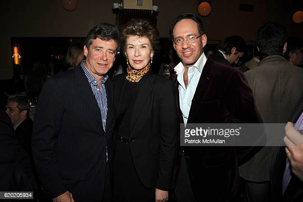 Jay McInerney Sara Colleton and Andrew Saffir attend THE CINEMA SOCIETY MICHAEL KORS host the after party for IRON MAN at The Odeon on April 28 2008...