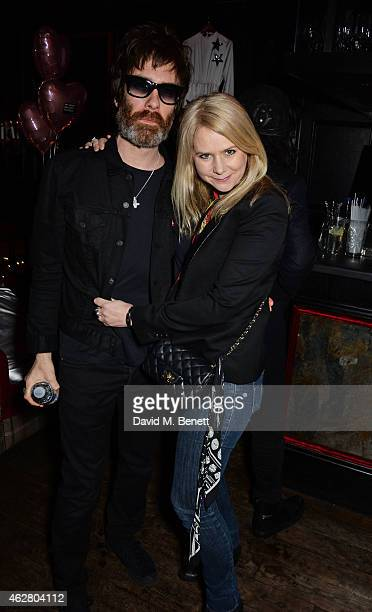 Jay Mehler and Lee Starkey attend the Oh My Love Pre-LFW Disco at The Scotch of St James on February 5, 2015 in London, England.