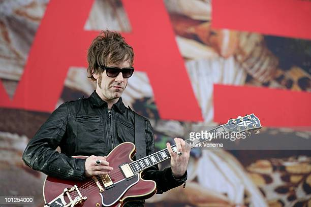 Jay Mehler performs as touring member with Kasabian at day 1 of the Pinkpop Festival on May 28 2010 in Landgraaf Netherlands