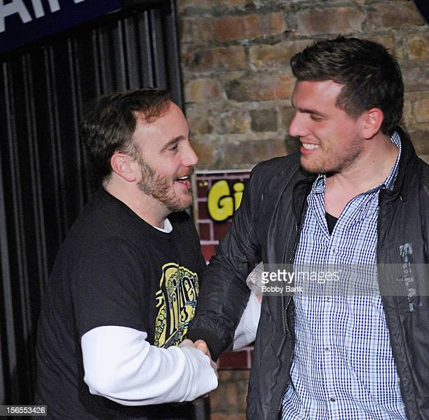 Jay Mohr and Chris Distefano perform at The Stress Factory Comedy Club on November 16 2012 in New Brunswick New Jersey