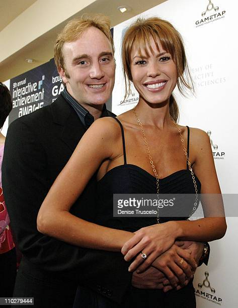 Jay Mohr and Nikki Cox during 9th Annual Interactive Achievement Awards in Las Vegas Hosted By Jay Mohr at The Joint at The Hard Rock Hotel and...