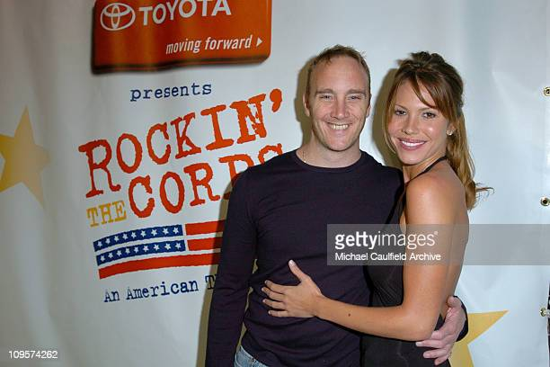 Jay Mohr and Nikki Cox during Rockin' the Corps Concert An American Thank You Celebration for US Marines Arrivals at Camp Pendelton in San Diego...