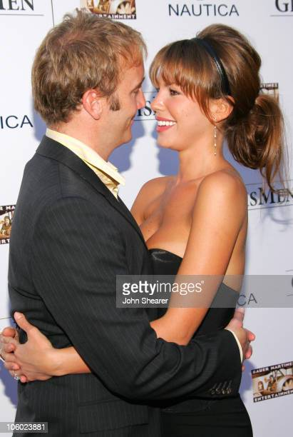 Jay Mohr and Nikki Cox during The Groomsmen World Premiere at The Arclight in Hollywood California United States