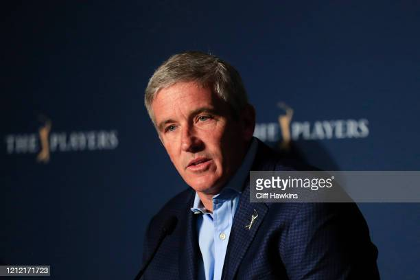 Jay Monahan PGA Tour Commissioner addresses the media regarding the cancellation of The PLAYERS Championship and consecutive events through April 5...