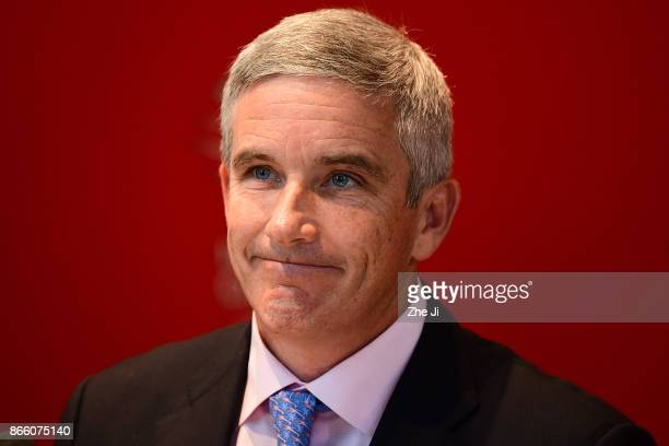 Jay Monahan PGA TOUR Commissioner at the PGA TOUR press conference during the WGC HSBC Champions at Sheshan International Golf Club on October 25...