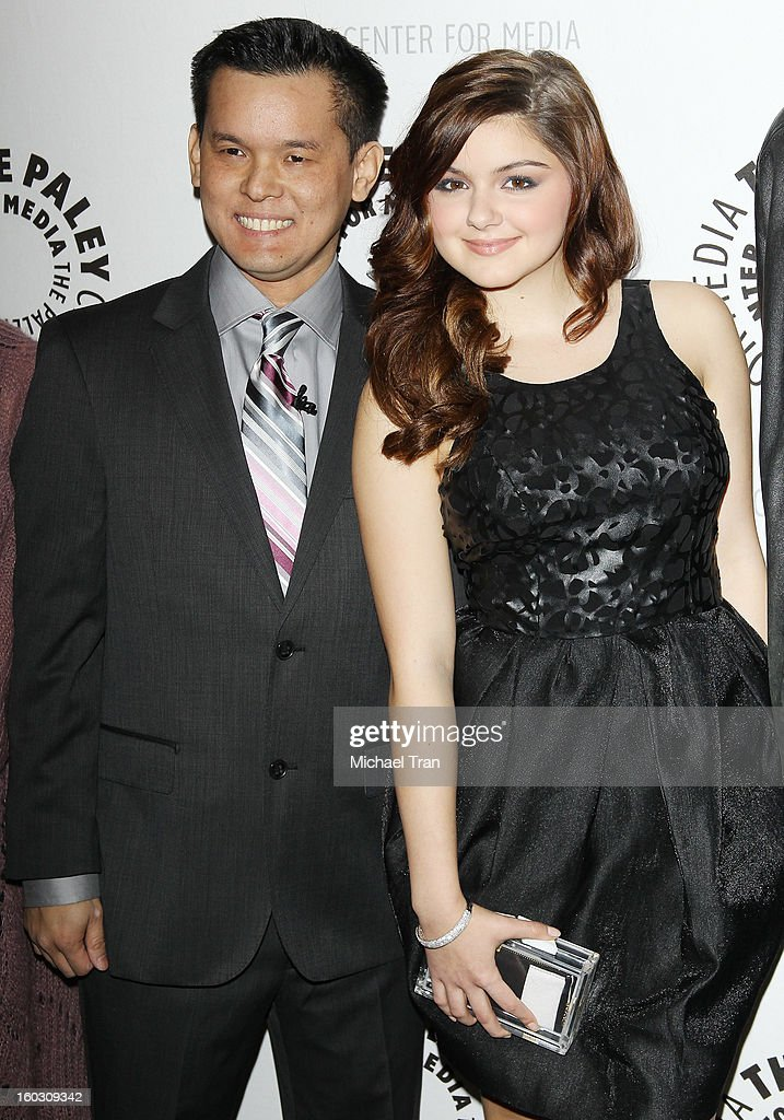 Jay Oliva (L) and Ariel Winter arrive at The Paley Center for Media and Warner Bros. Home Entertainment host 'Batman: The Dark Knight Returns, Part 2' West Coast premiere held on January 28, 2013 in Beverly Hills, California.