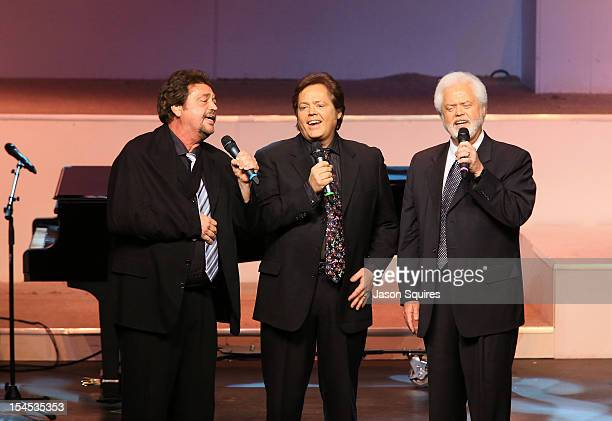 Jay Osmond Jimmy Osmond and Merril Osmond attend a memorial service for entertainer Andy Williams on October 21 2012 in Branson Missouri Williams...