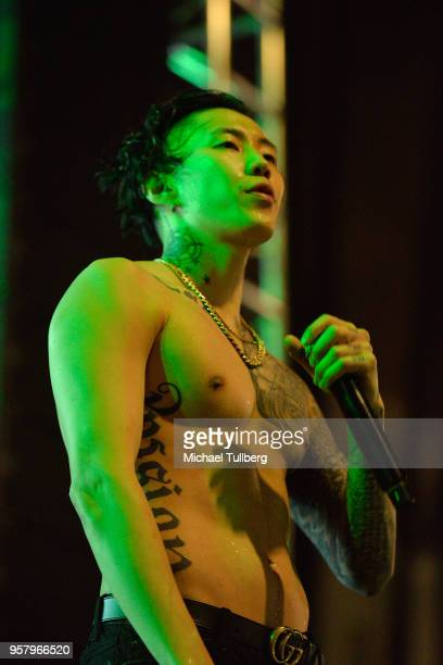 Jay Park performs at Identity LA 2018 at Los Angeles Grand Park on May 12 2018 in Los Angeles California