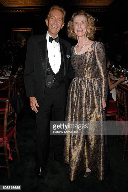 Jay Paul and Julia Wallace attend The FRICK Collection's Autumn Dinner Honoring Ann and John Marion at The Frick Collection on October 15 2007 in New...