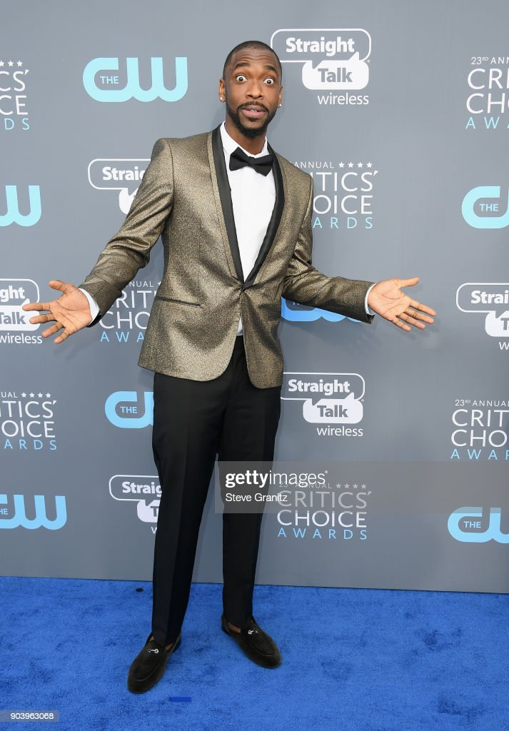 Jay Pharoah attends The 23rd Annual Critics' Choice Awards at Barker Hangar on January 11, 2018 in Santa Monica, California.