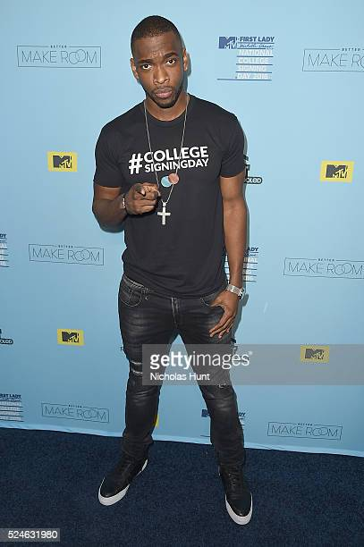 Jay Pharoah backstage during the 3rd Annual College Signing Day at the Harlem Armory on April 26 2016 in New York City The event cohosted by MTV was...