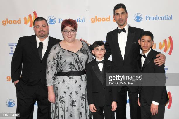 Jay Phillips Laura Phillips Will Phillips Jarrett Barrios and Jarrett Barrios' son attend 21st Annual GLAAD Media Awards at Marriott Marquis on March...