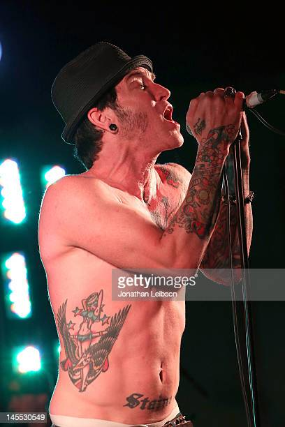 A Jay Popoff of the band Lit performs at the 13th Annual Golden Trailer Awards on May 31 2012 in Belair California
