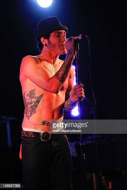 A Jay Popoff of the band Lit performs at the 13th Annual Golden Trailer Awards on May 31 2012 in Los Angeles California