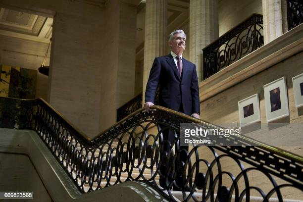 Jay Powell governor of the US Federal Reserve stands for a photograph at the board's headquarters in Washington DC US on Thursday April 13 2017 As...