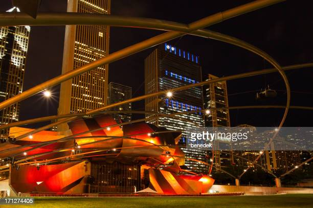 jay pritzker pavilion at millenium park in chicago usa - jay pritzker pavillion stock photos and pictures