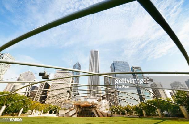 jay pritzker pavilion in millennium park in chicago, illinois - jay pritzker pavillion stock photos and pictures