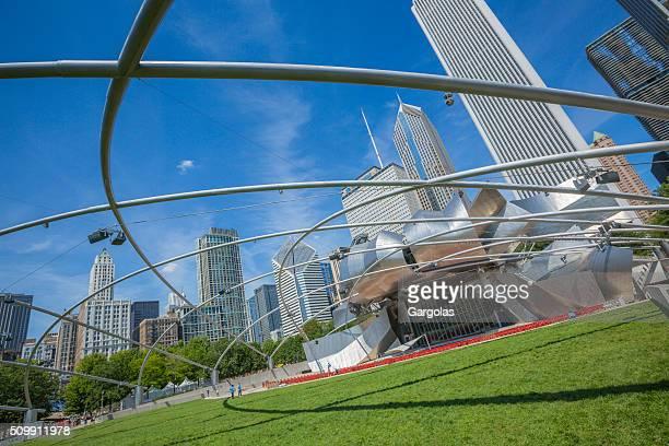 jay pritzker pavillion at millennium park in chicago - jay pritzker pavillion stock photos and pictures