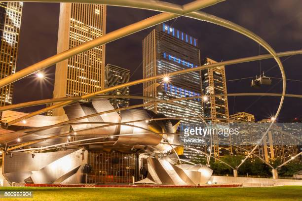 jay pritzker pavilion i millenium park chicago illinois usa - millenium park bildbanksfoton och bilder