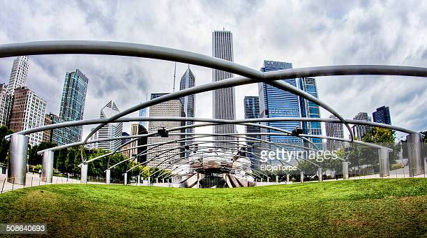 jay pritzker pavillon at millenium park - millenium park stock photos and pictures