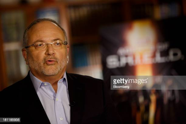 Jay Rasulo chief financial officer of Walt Disney Co speaks during a Bloomberg Television interview at Walt Disney Studios in Burbank California US...