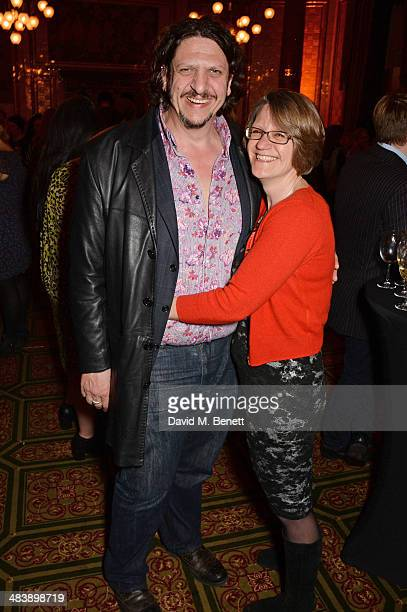 Jay Rayner and guest attend an after party following the press night performance of 'Handbagged' at the Royal Horseguards hotel on April 10 2014 in...