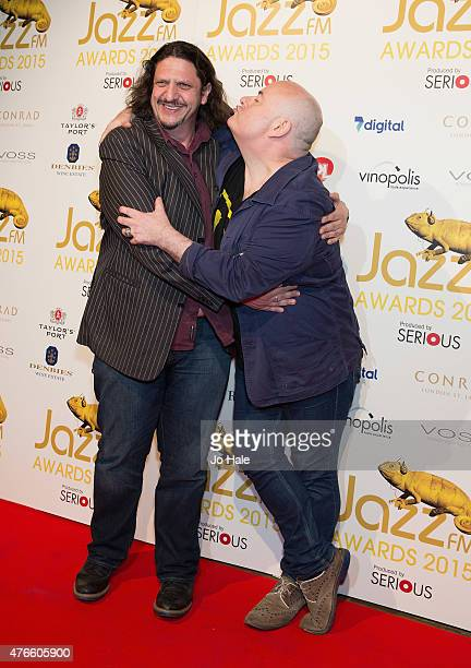 Jay Rayner and Ian Shaw attend the Jazz FM Awards at Vinopolis on June 10 2015 in London England