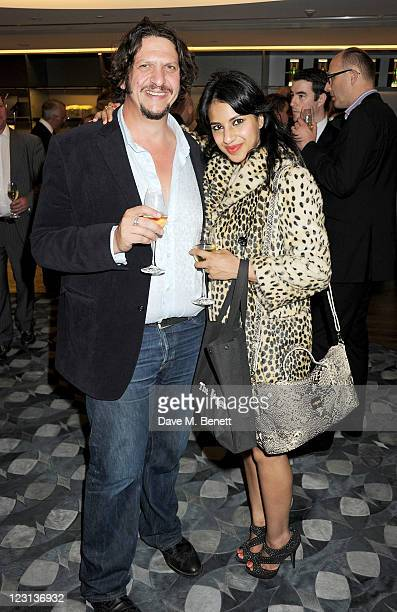 Jay Rayner and Ravinder Bhogal attends the launch of The French Laundry popup restaurant at Harrods on August 31 2011 in London England