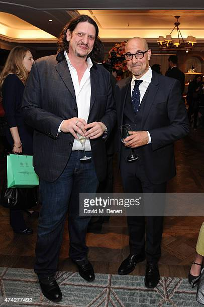 Jay Rayner and Stanley Tucci attend the third annual Fortnum Mason Food Drink Awards 2015 on May 21 2015 in London England The awards celebrate the...