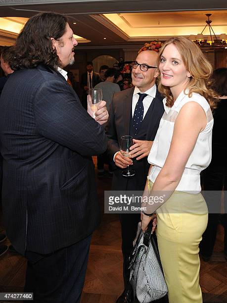 Jay Rayner Stanley Tucci and Felicity Blunt attend the third annual Fortnum Mason Food Drink Awards 2015 on May 21 2015 in London England The awards...